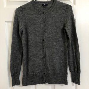 GAP Wool Cardigan Grey Size Medium